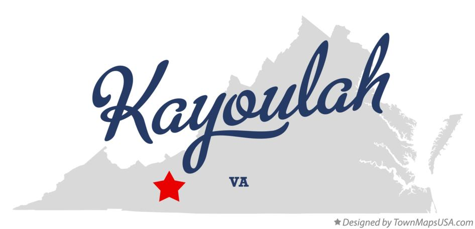 Map of Kayoulah Virginia VA