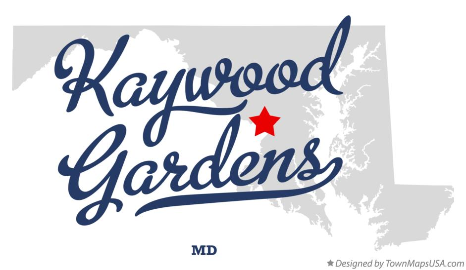 Map of Kaywood Gardens Maryland MD