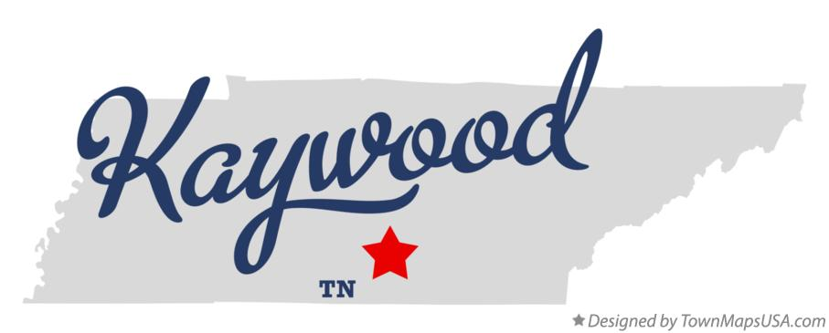 Map of Kaywood Tennessee TN
