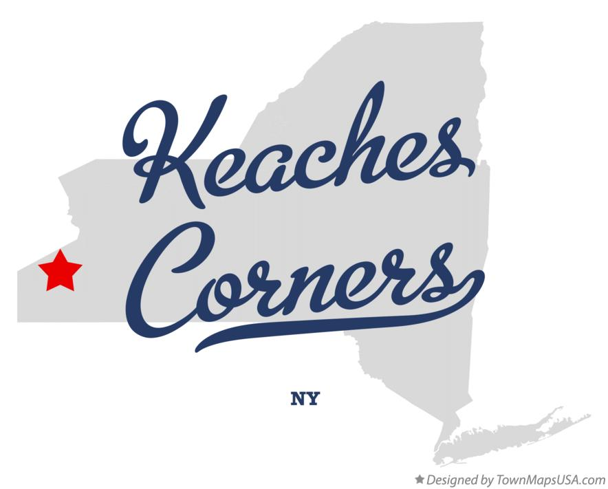 Map of Keaches Corners New York NY