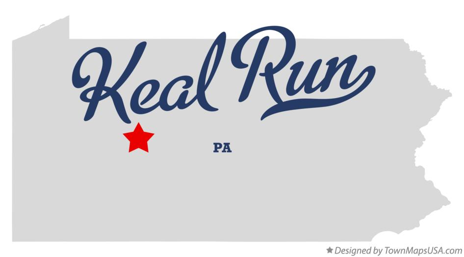 Map of Keal Run Pennsylvania PA