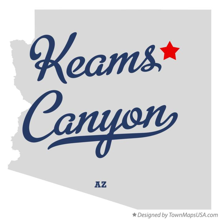 Map of Keams Canyon Arizona AZ