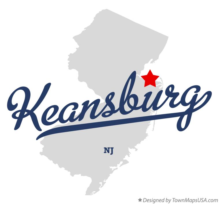 Map of Keansburg New Jersey NJ