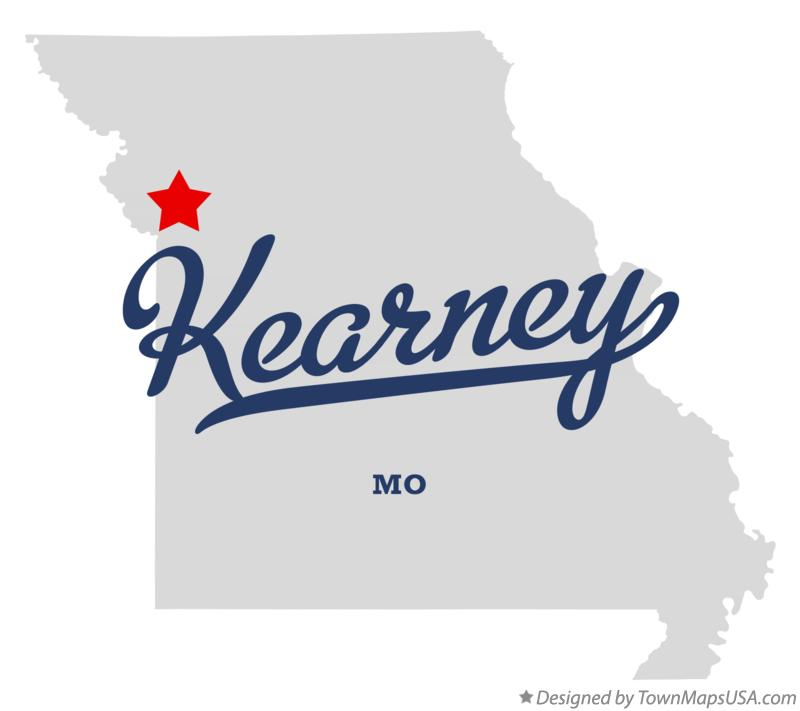 Map of Kearney Missouri MO