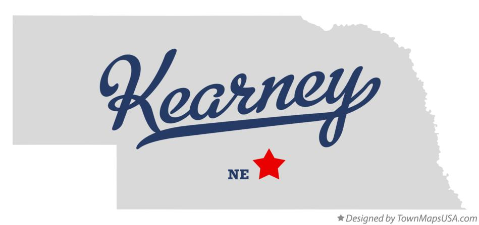 Map of Kearney NE Nebraska