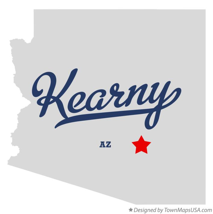 Map of Kearny Arizona AZ