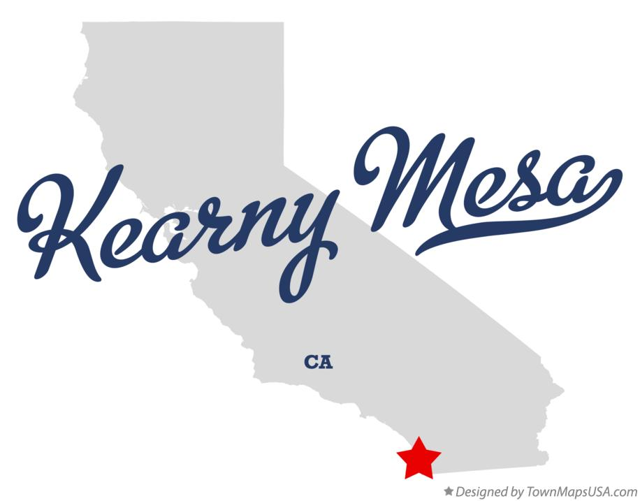 Map of Kearny Mesa California CA