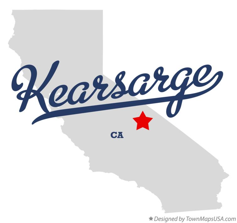 Map of Kearsarge California CA
