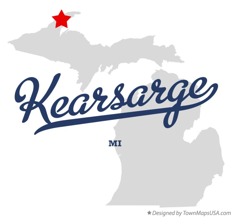 Map of Kearsarge Michigan MI