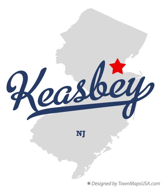 Map of Keasbey New Jersey NJ