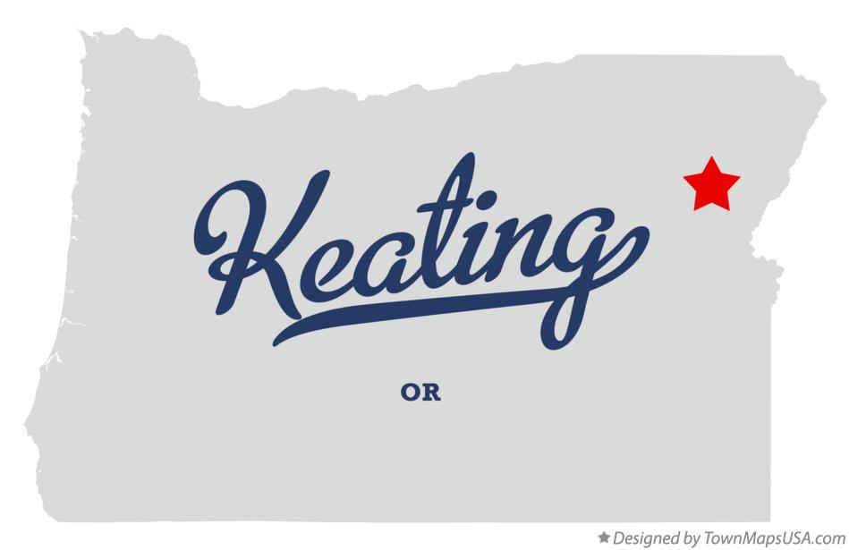 Map of Keating Oregon OR