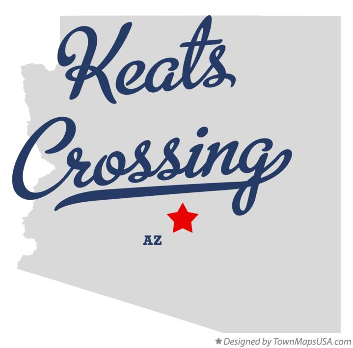 Map of Keats Crossing Arizona AZ