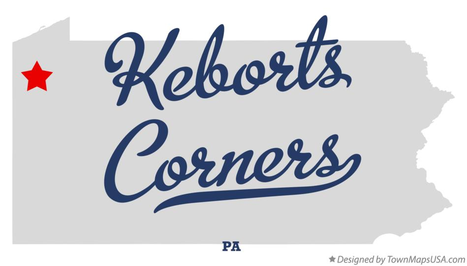 Map of Keborts Corners Pennsylvania PA