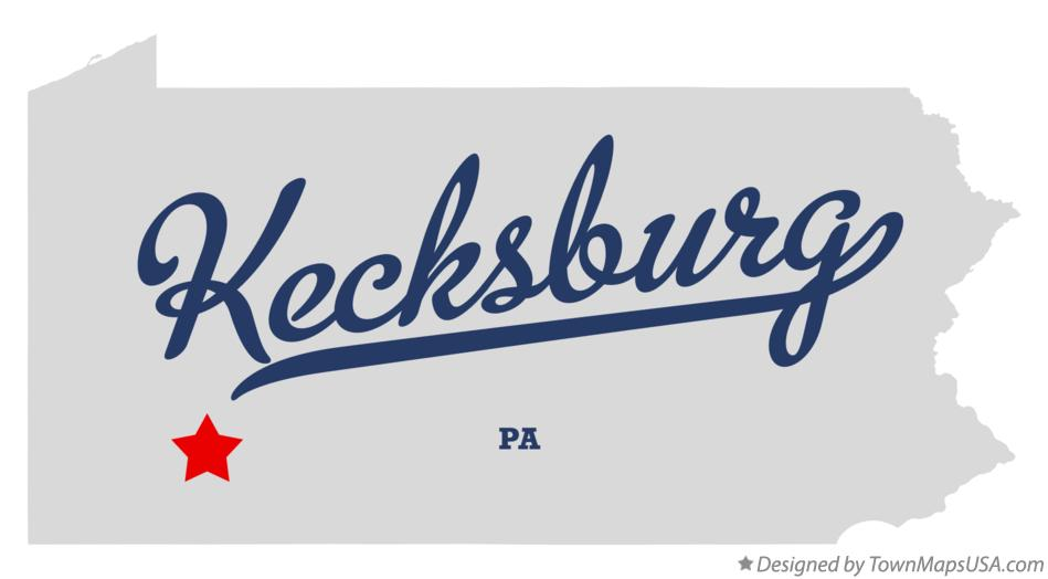 Map of Kecksburg Pennsylvania PA