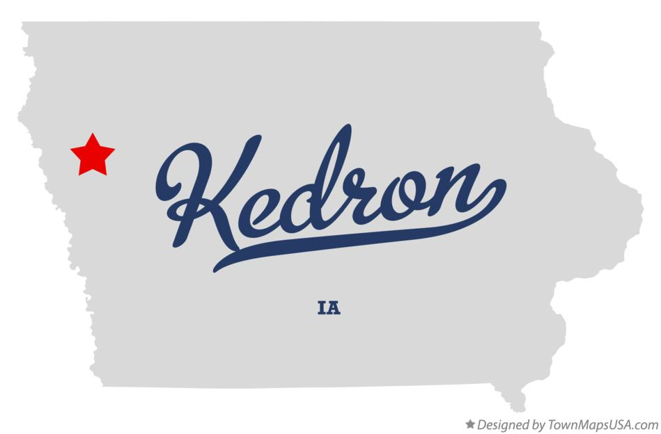 Map of Kedron Iowa IA