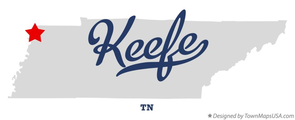 Map of Keefe Tennessee TN