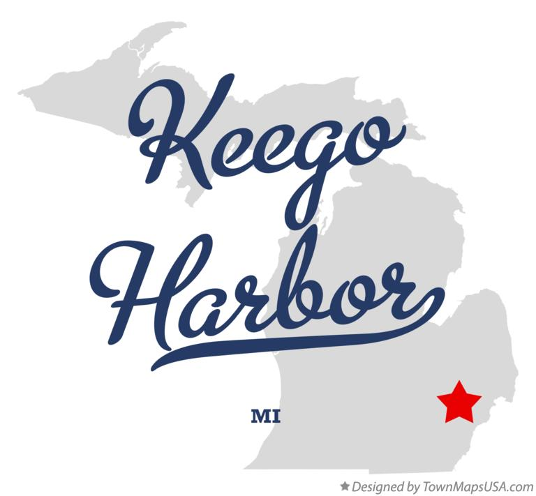 Map of Keego Harbor Michigan MI