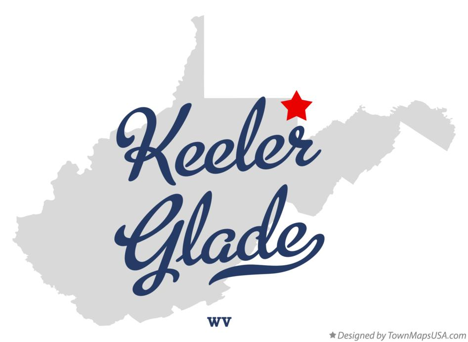 Map of Keeler Glade West Virginia WV