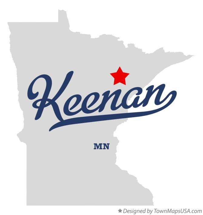 Map of Keenan Minnesota MN