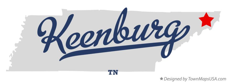 Map of Keenburg Tennessee TN