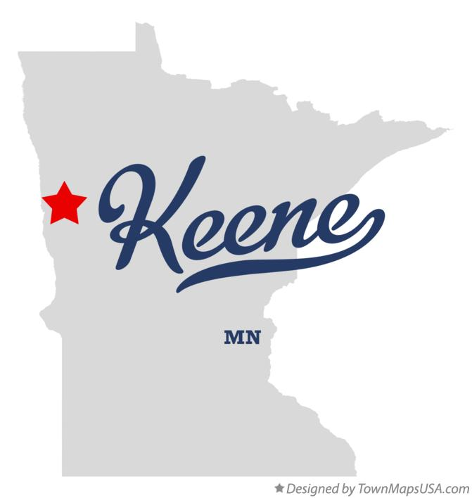 Map of Keene Minnesota MN