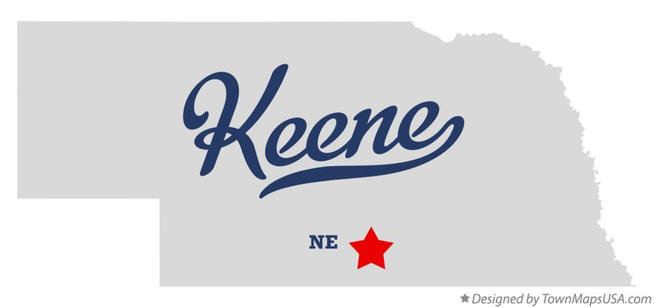 Map of Keene Nebraska NE