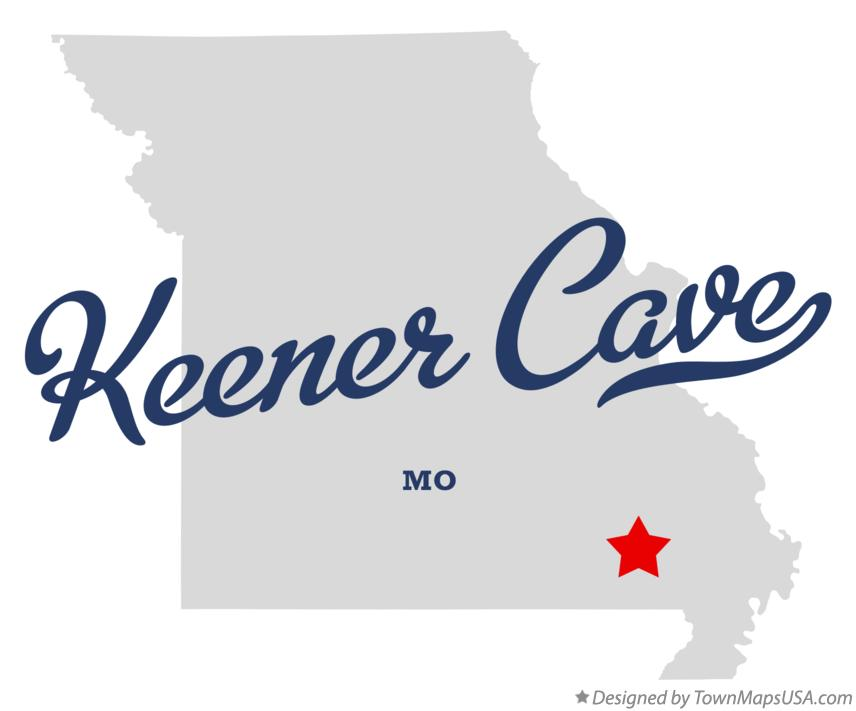 Map of Keener Cave Missouri MO