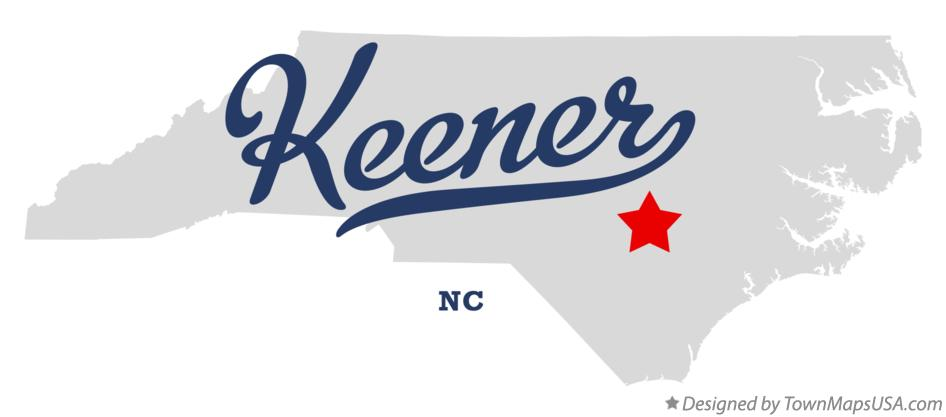 Map of Keener North Carolina NC