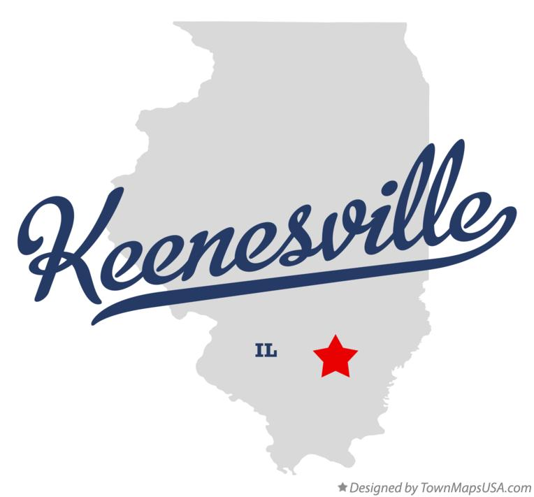 Map of Keenesville Illinois IL