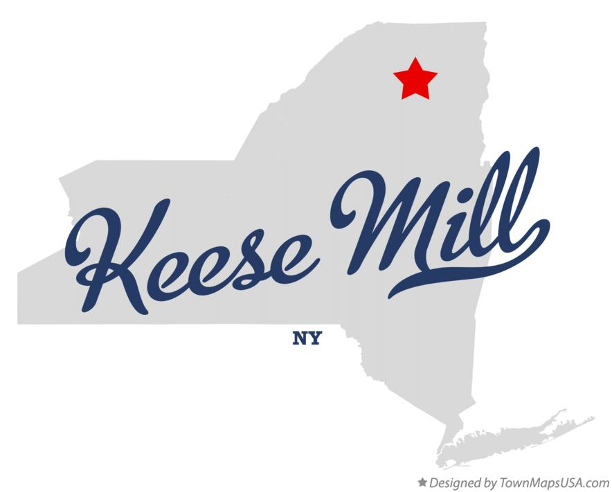 Map of Keese Mill New York NY