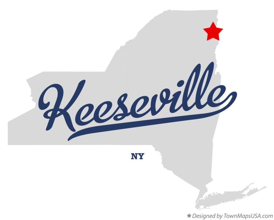 Map of Keeseville New York NY