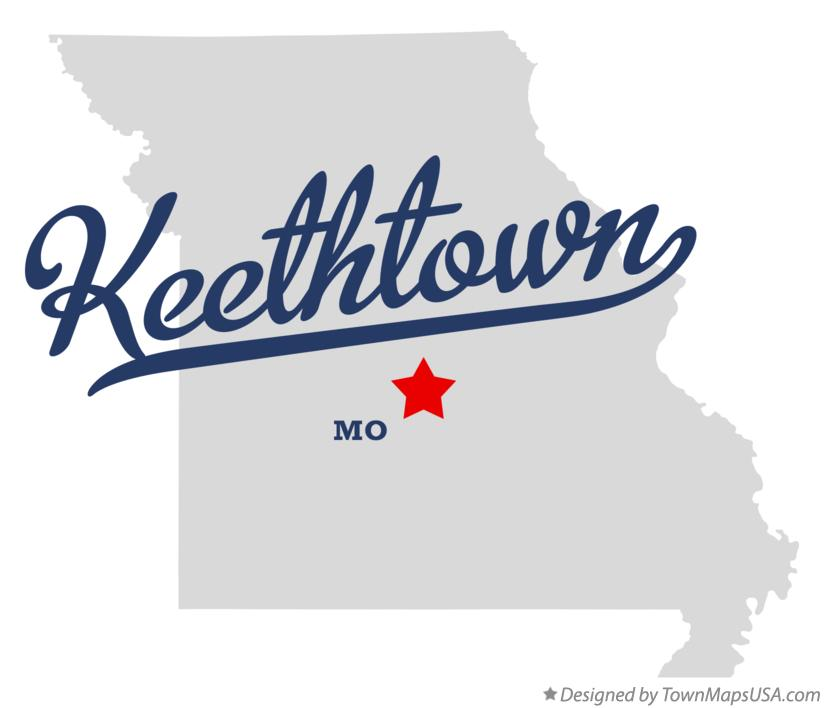 Map of Keethtown Missouri MO