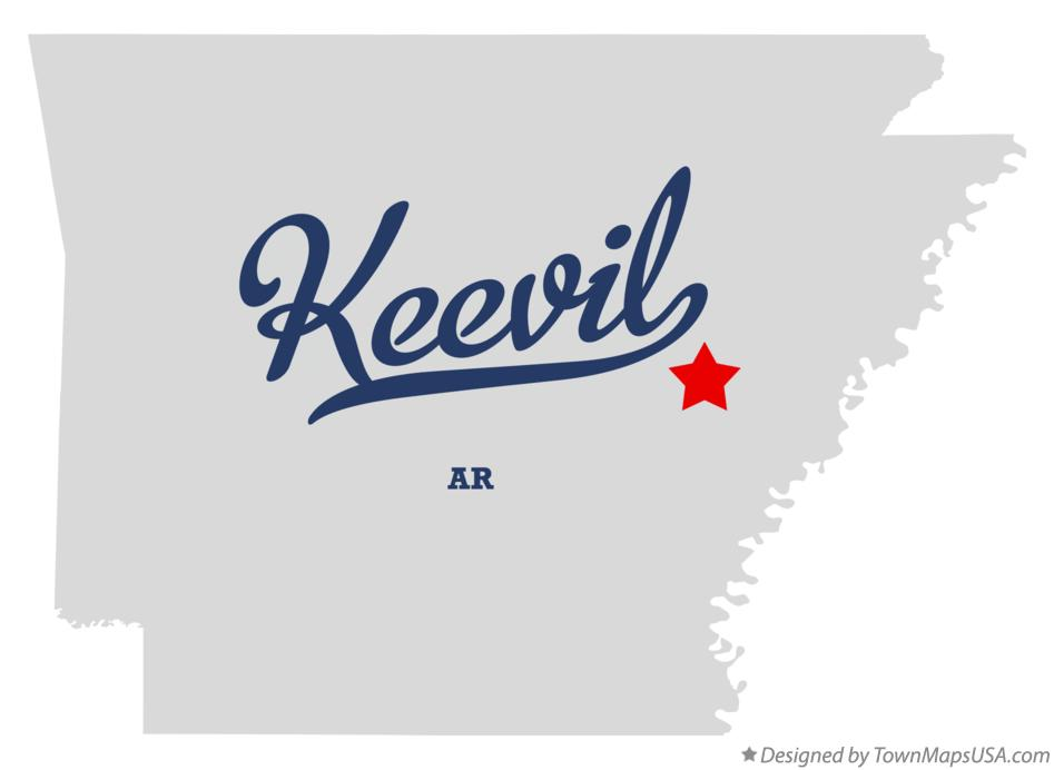Map of Keevil Arkansas AR