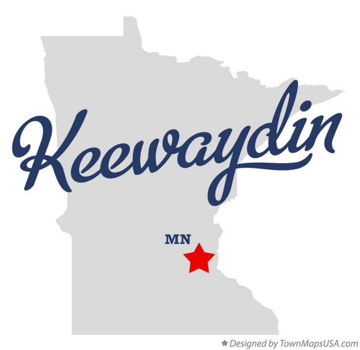 Map of Keewaydin Minnesota MN