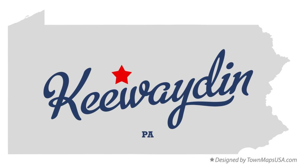Map of Keewaydin Pennsylvania PA