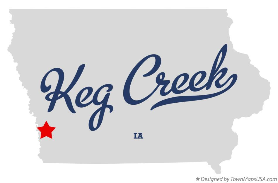 Map of Keg Creek Iowa IA