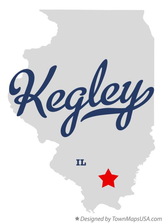 Map of Kegley Illinois IL