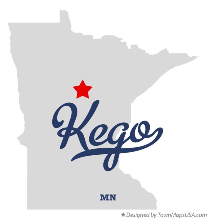Map of Kego Minnesota MN