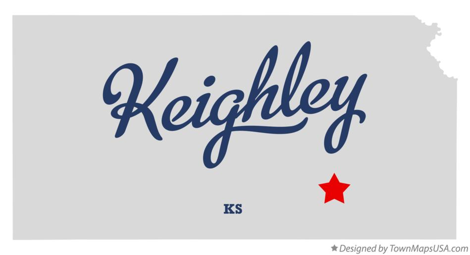 Map of Keighley Kansas KS