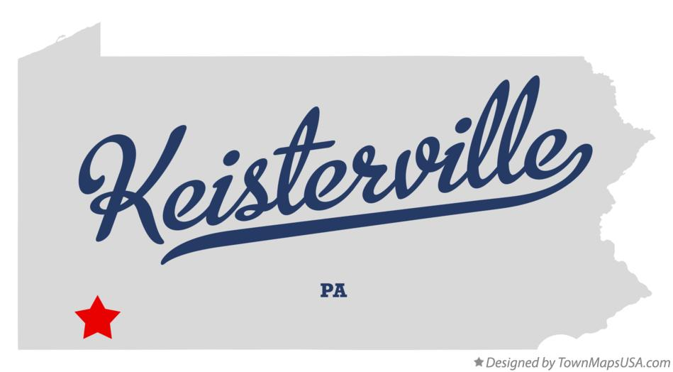 Map of Keisterville Pennsylvania PA