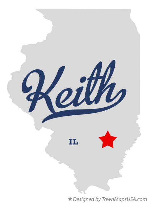 Map of Keith Illinois IL