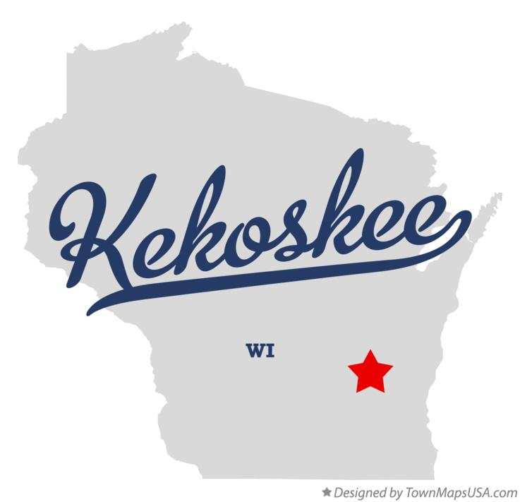 Map of Kekoskee Wisconsin WI