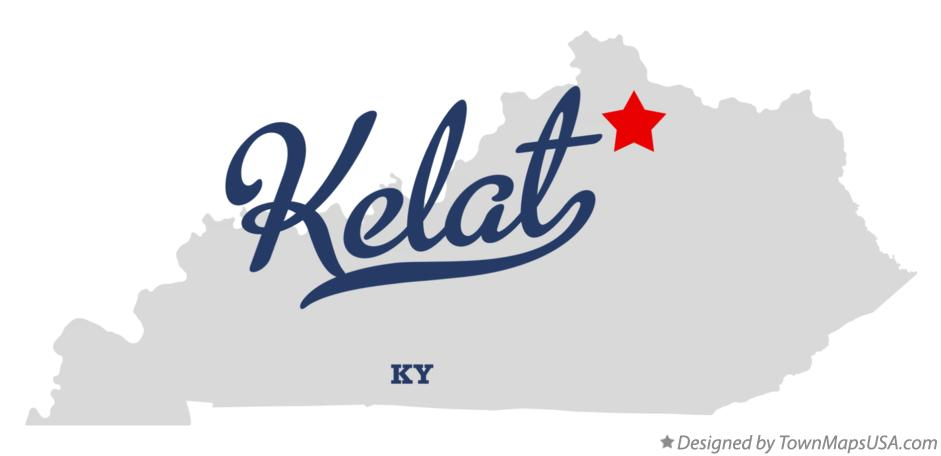 Map of Kelat Kentucky KY