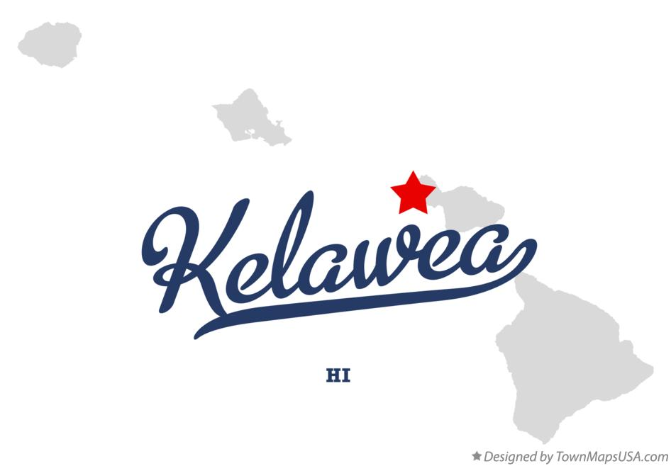 Map of Kelawea Hawaii HI