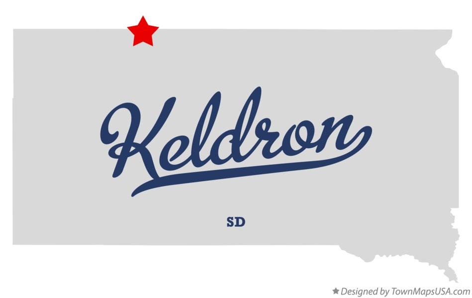 Map of Keldron South Dakota SD