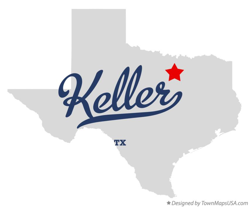 Map of Keller Texas TX