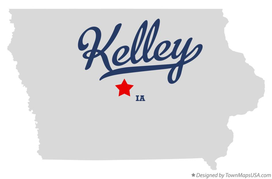 Map of Kelley Iowa IA