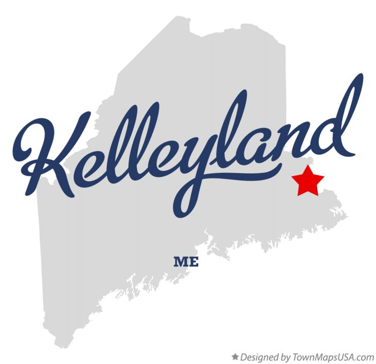 Map of Kelleyland Maine ME
