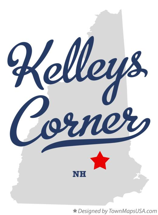 Map of Kelleys Corner New Hampshire NH