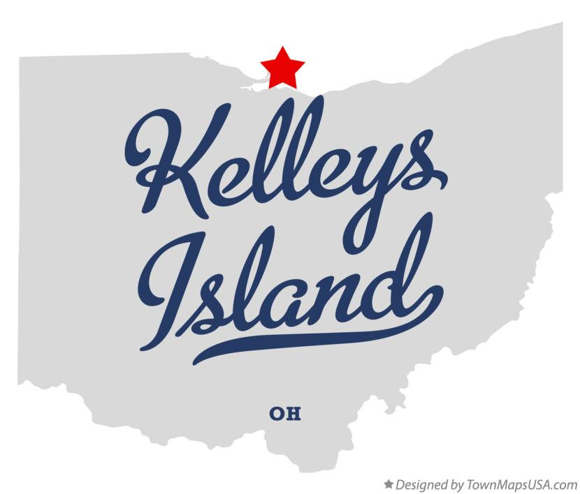Map of Kelleys Island Ohio OH